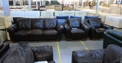 Brown 3 seater and 2 chairs £149  - Click for more details
