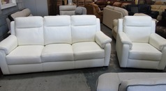 Mendip 3 seaterand 1 chair white £399 - Click for more details