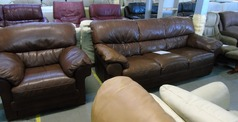 Pavia 3 seater and 1 chair tan £249 - Click for more details