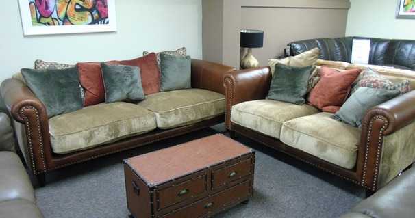 Salisbury 3 seater and 2 seater  tan £1999 (CARDIFF SUPERSTORE)