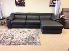 Catania Double Electric Recliner Chaise Sofa Black 2999 Cardiff Super Click For